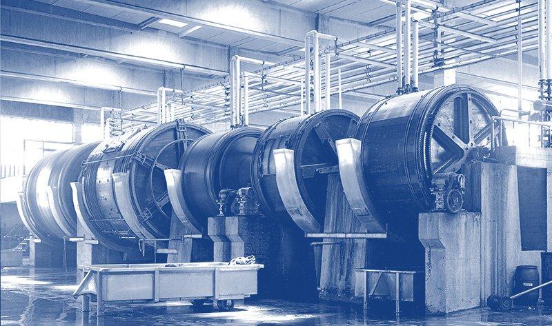 Pompe verticali centrifughe per concerie